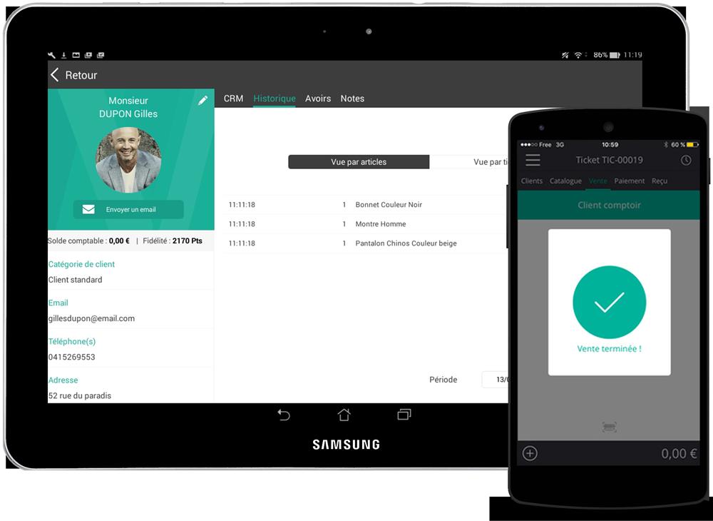 Las tabletas Android son compatibles con la aplicacion de caja registradora RoverCash