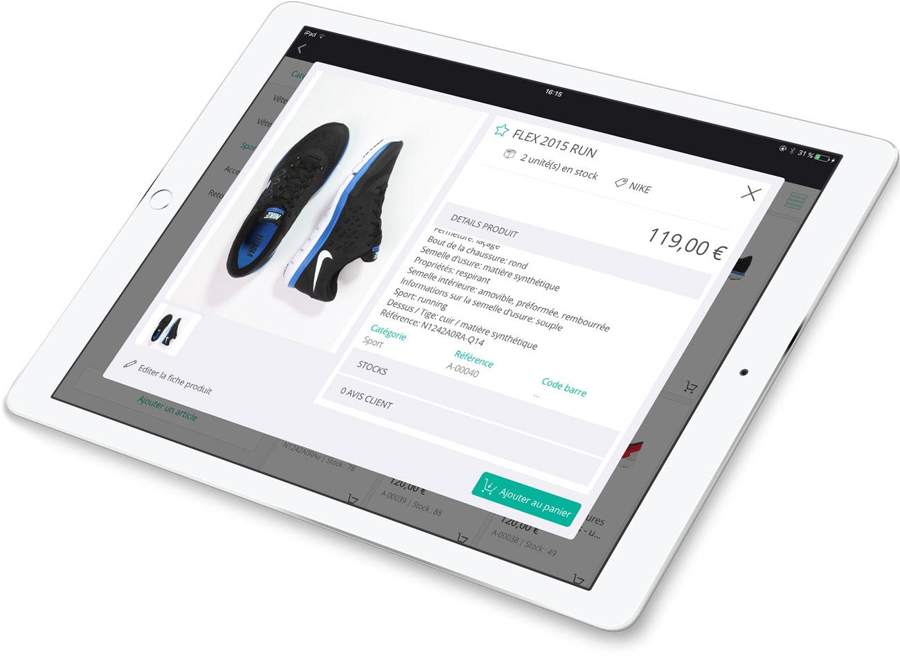 El software de la caja registradora RoverCash le permite crear fichas de productos