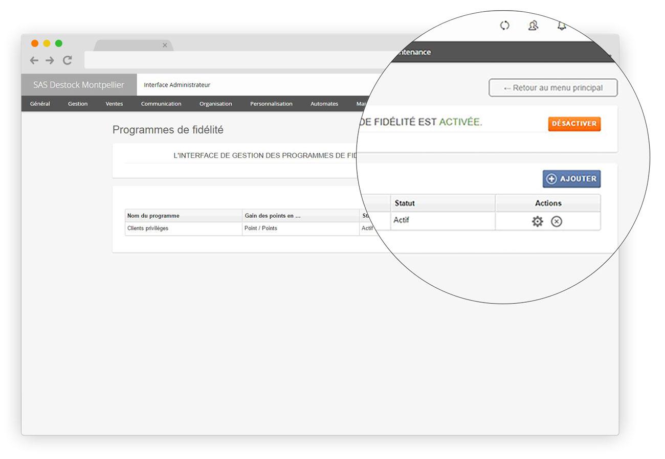 l software de caja registradora RoverCash permite una administración de fidelidad en profundidad.