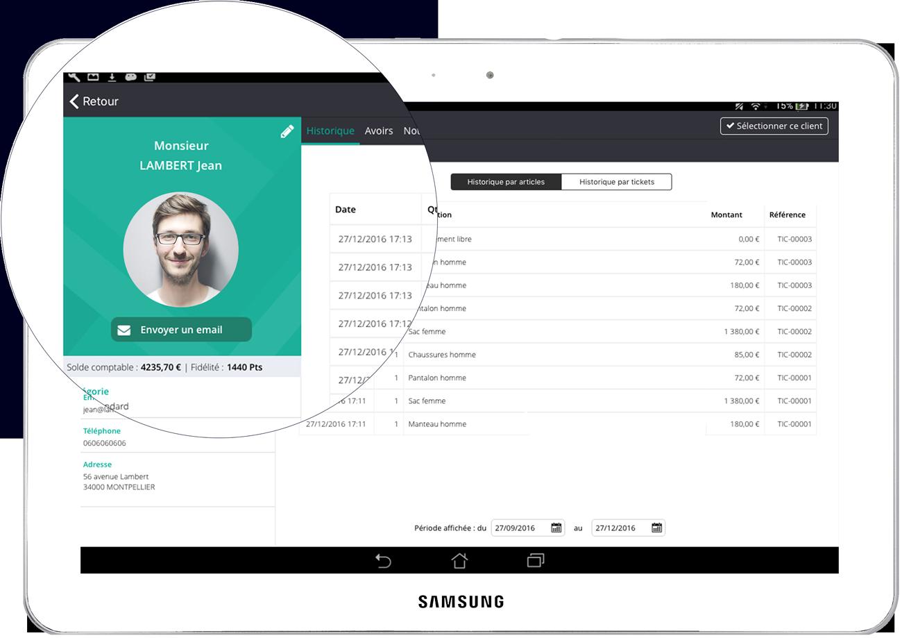 El software de caja registradora le permite crear fichas de cliente completas
