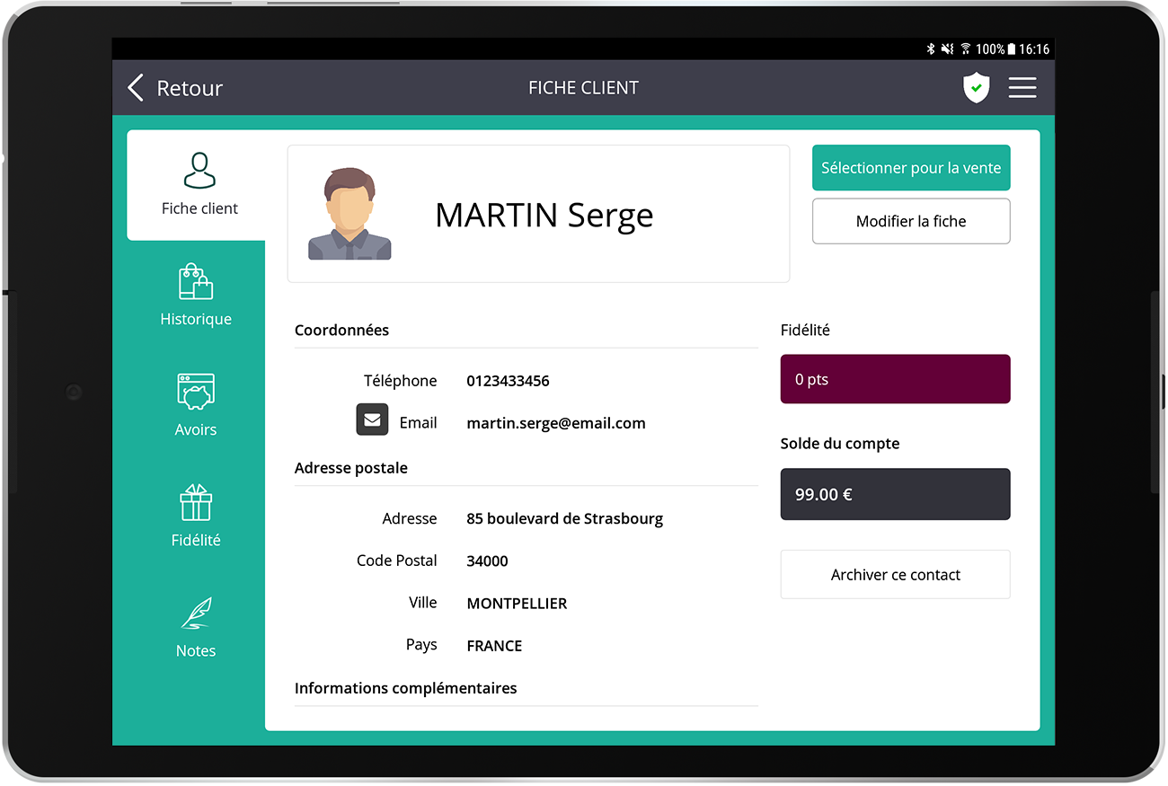 La aplicacion de caja que te permite gestionar la fidelite y la relacion cliente