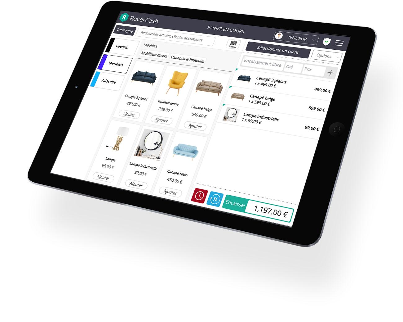 El software de caja registradora táctil RoverCash, una verdadera herramienta de gestión para comerciantes