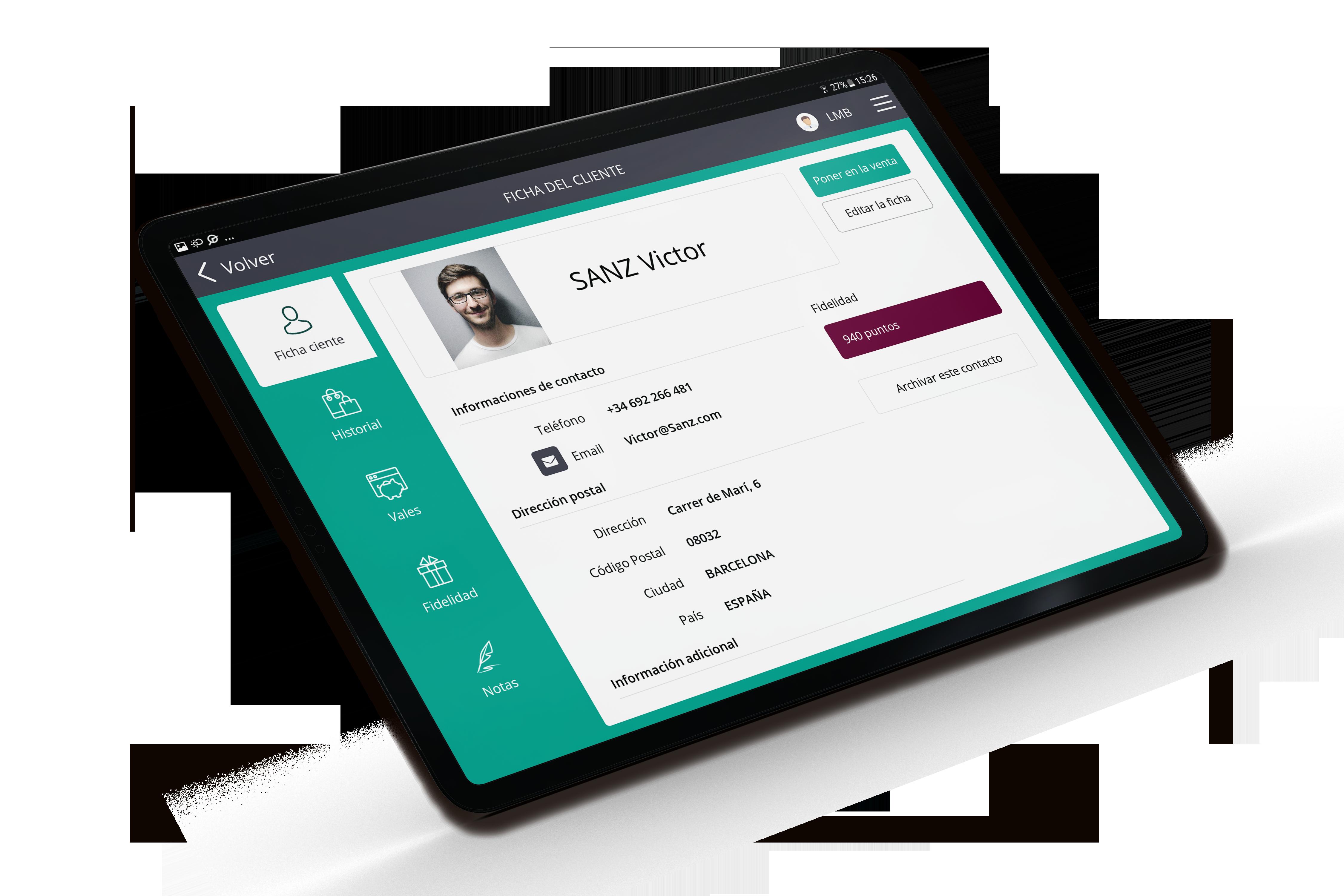 Software de caja RoverCash le permite crear un directorio de clientes